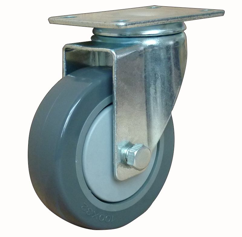 Medium duty gray swivel caster